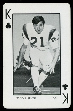 1973 Florida Playing Cards #13C - Tyson Sever - nm+
