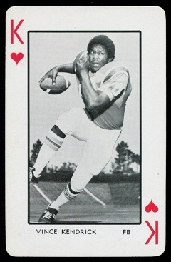 1973 Florida Playing Cards #13H - Vince Kendrick - mint