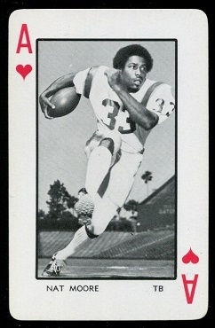 1973 Florida Playing Cards #1H - Nat Moore - nm