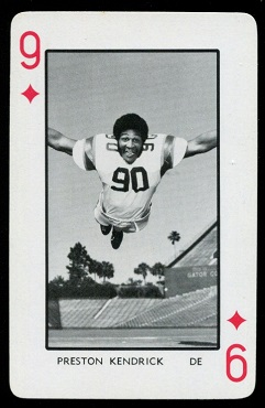 1973 Florida Playing Cards #9D - Preston Kendrick - nm-mt