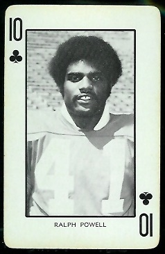 1973 Nebraska Playing Cards #10C - Ralph Powell - nm