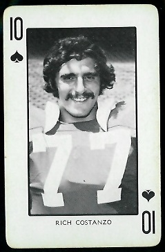 1973 Nebraska Playing Cards #10S - Rich Costanzo - nm
