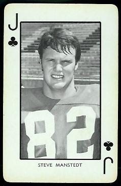 1973 Nebraska Playing Cards #11C - Steve Manstedt - exmt