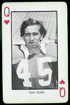 1973 Nebraska Playing Cards #12H - Tom Ruud - nm