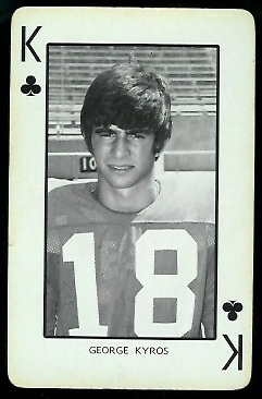1973 Nebraska Playing Cards #13C - George Kyros - exmt
