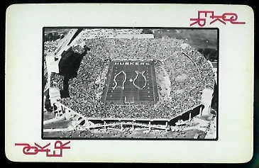 1973 Nebraska Playing Cards #14R - Memorial Stadium - nm