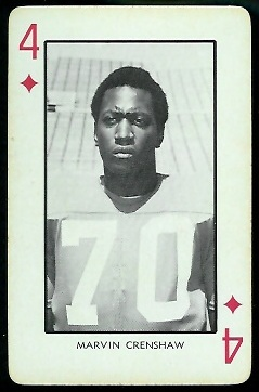 1973 Nebraska Playing Cards #4D - Marvin Crenshaw - nm