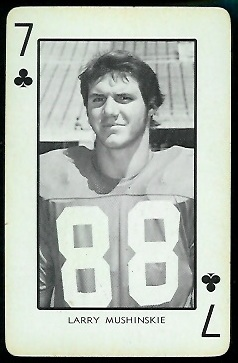 1973 Nebraska Playing Cards #7C - Larry Mushinskie - nm