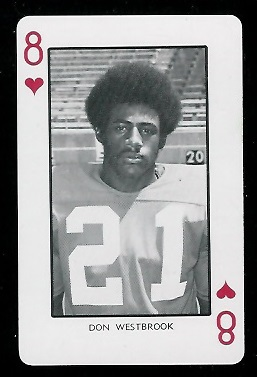 1973 Nebraska Playing Cards #8H - Don Westbrook - mint