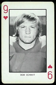 1973 Nebraska Playing Cards #9H - Bob Schmit - nm