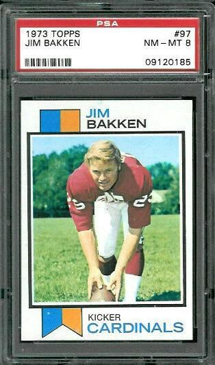 1973 Topps #97 - Jim Bakken - PSA 8