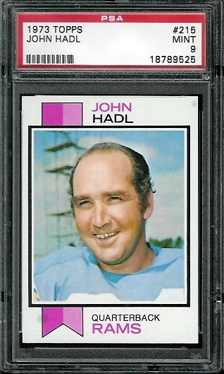 1973 Topps #215 - John Hadl - PSA 9