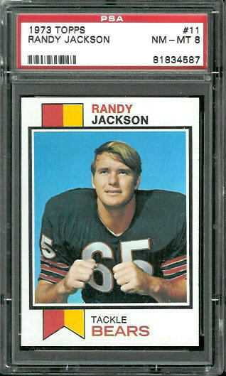1973 Topps #11 - Randy Jackson - PSA 8