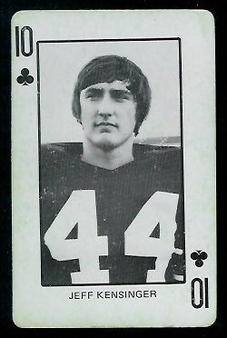 1974 Colorado Playing Cards #10C - Jeff Kensinger - vg