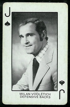 1974 Colorado Playing Cards #11S - Milan Vooletich - ex