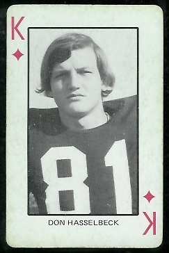 1974 Colorado Playing Cards #13D - Don Hasselbeck - ex