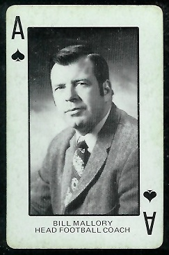 1974 Colorado Playing Cards #1S - Bill Mallory - ex