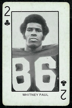 1974 Colorado Playing Cards #2C - Whitney Paul - ex