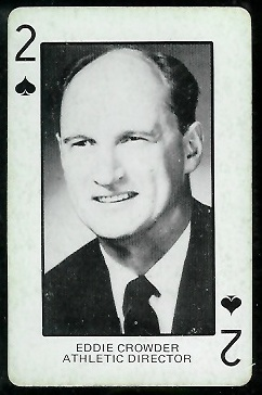 1974 Colorado Playing Cards #2S - Eddie Crowder - ex