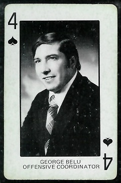 1974 Colorado Playing Cards #4S - George Belu - ex