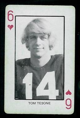 1974 Colorado Playing Cards #6H - Tom Tesone - ex