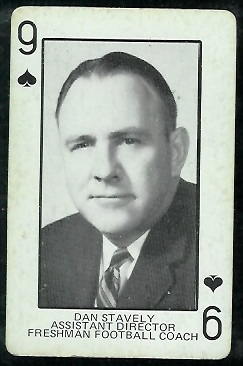 1974 Colorado Playing Cards #9S - Dan Stavely - ex