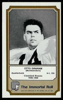 1974 Fleer Immortal Roll #14 - Otto Graham - exmt