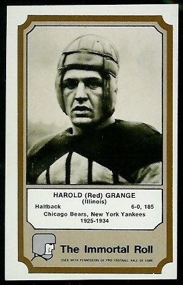 1974 Fleer Immortal Roll #15 - Red Grange - exmt