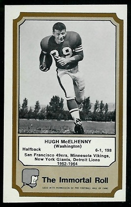 1974 Fleer Immortal Roll #32 - Hugh McElhenny - nm