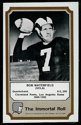 1974 Fleer Immortal Roll #50 - Bob Waterfield - exmt