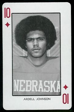 1974 Nebraska Playing Cards #10D - Ardell Johnson - nm