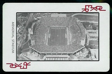 1974 Nebraska Playing Cards #14R - Memorial Stadium - nm