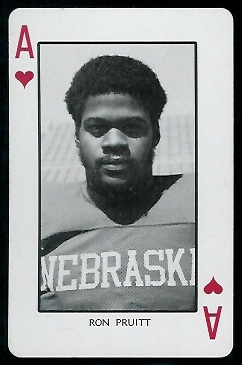 1974 Nebraska Playing Cards #1H - Ron Pruitt - nm