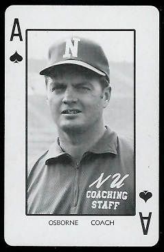 1974 Nebraska Playing Cards #1S - Tom Osborne - nm