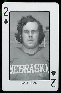 1974 Nebraska Playing Cards #2C - Mark Doak - nm