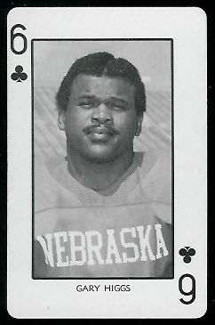 1974 Nebraska Playing Cards #6C - Gary Higgs - nm