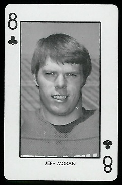 1974 Nebraska Playing Cards #8C - Jeff Moran - nm