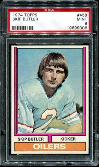 1974 Topps #458 - Skip Butler - PSA 9