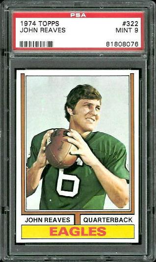 1974 Topps #322 - John Reaves - PSA 9