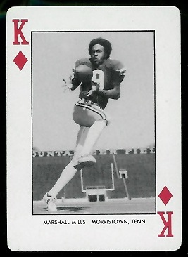 1974 West Virginia Playing Cards #13D - Marshall Mills - nm+