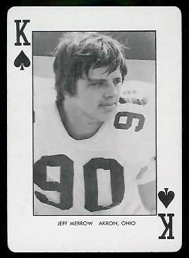 1974 West Virginia Playing Cards #13S - Jeff Merrow - nm+