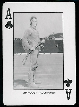 1974 West Virginia Playing Cards #1C - Stu Wolpert - nm+