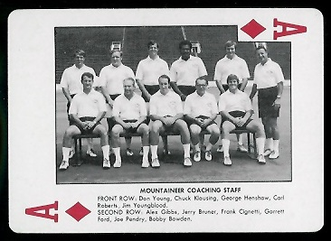 1974 West Virginia Playing Cards #1D - Mountaineer Coaching Staff - nm+