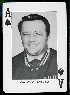 1974 West Virginia Playing Cards #1S - Bobby Bowden - nm+