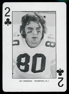 1974 West Virginia Playing Cards #2C - Jay Sheehan - nm