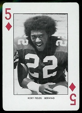 1974 West Virginia Playing Cards #5D - Rory Fields - nm+