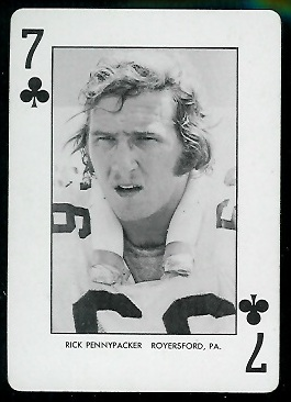 1974 West Virginia Playing Cards #7C - Rick Pennypacker - nm+