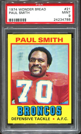 1974 Wonder Bread #21 - Paul Smith - PSA 9
