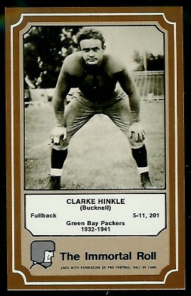 1975 Fleer Immortal Roll #10 - Clarke Hinkle - nm-mt