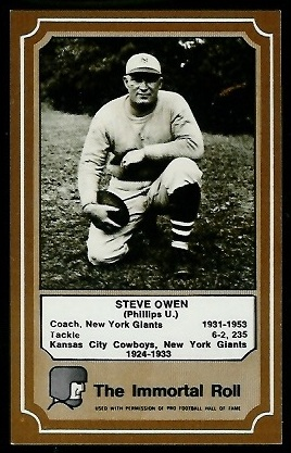 1975 Fleer Immortal Roll #15 - Steve Owen - nm